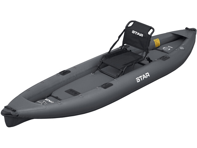 "NRS STAR Pike Kayak inflable para pesca 12'8"", dark gray"